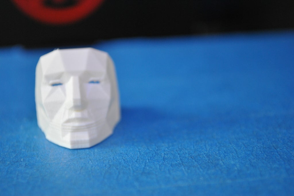 Poly Maske Yüzük  Biblo Dekoratif Hediyelik Süs Eşyası Maket