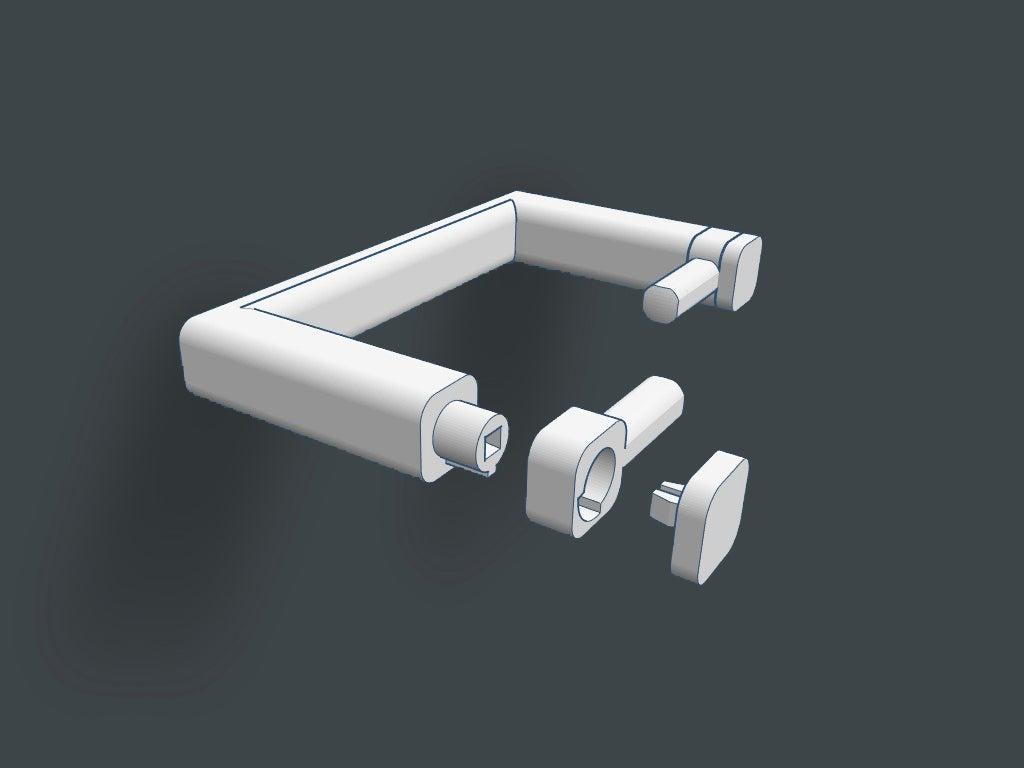 Minimalist hızlı değişim tuvalet kağıdı tutucusu dispenseri