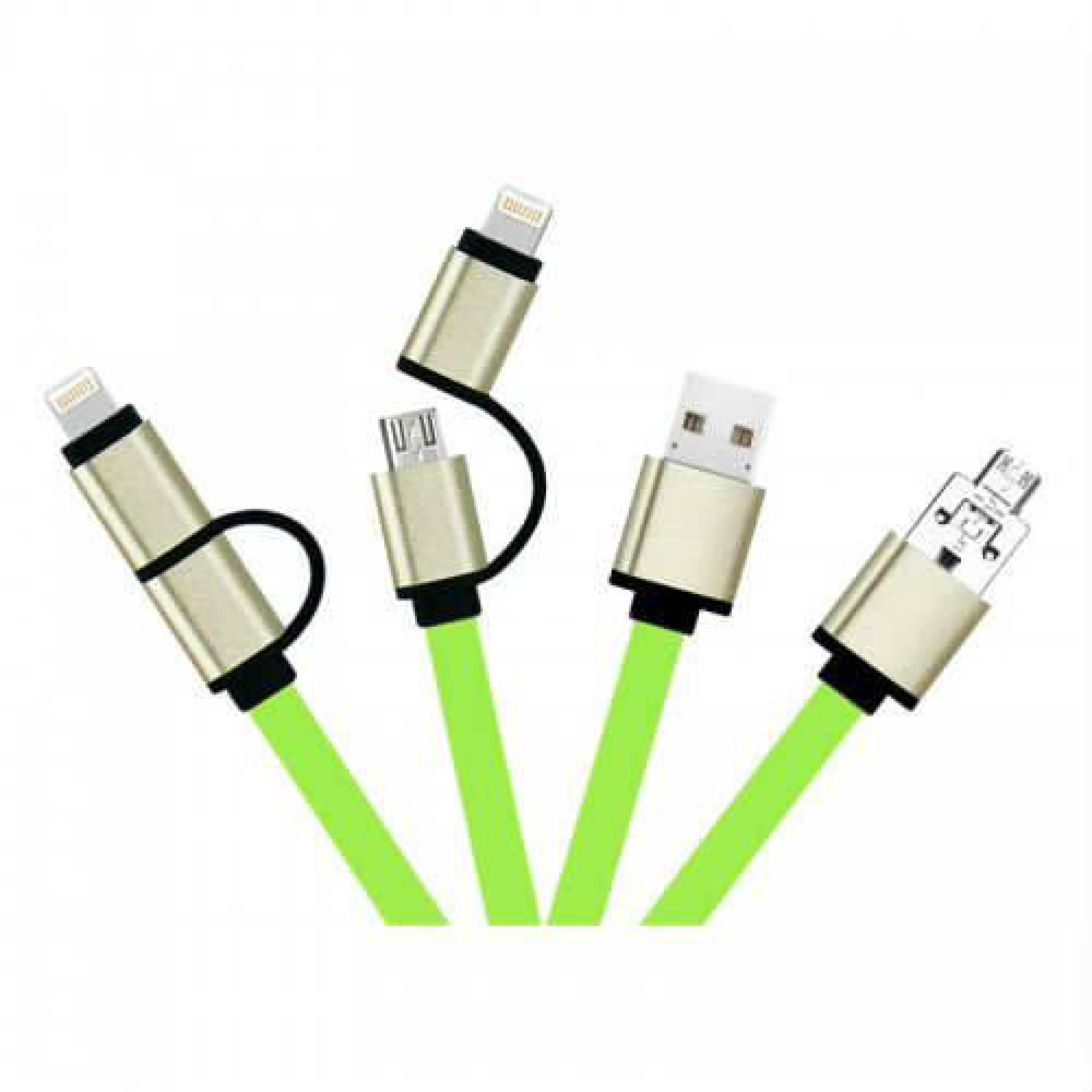 2 in 1 iPhone Lightning + Android Micro USB Şarj ve Data Kablosu