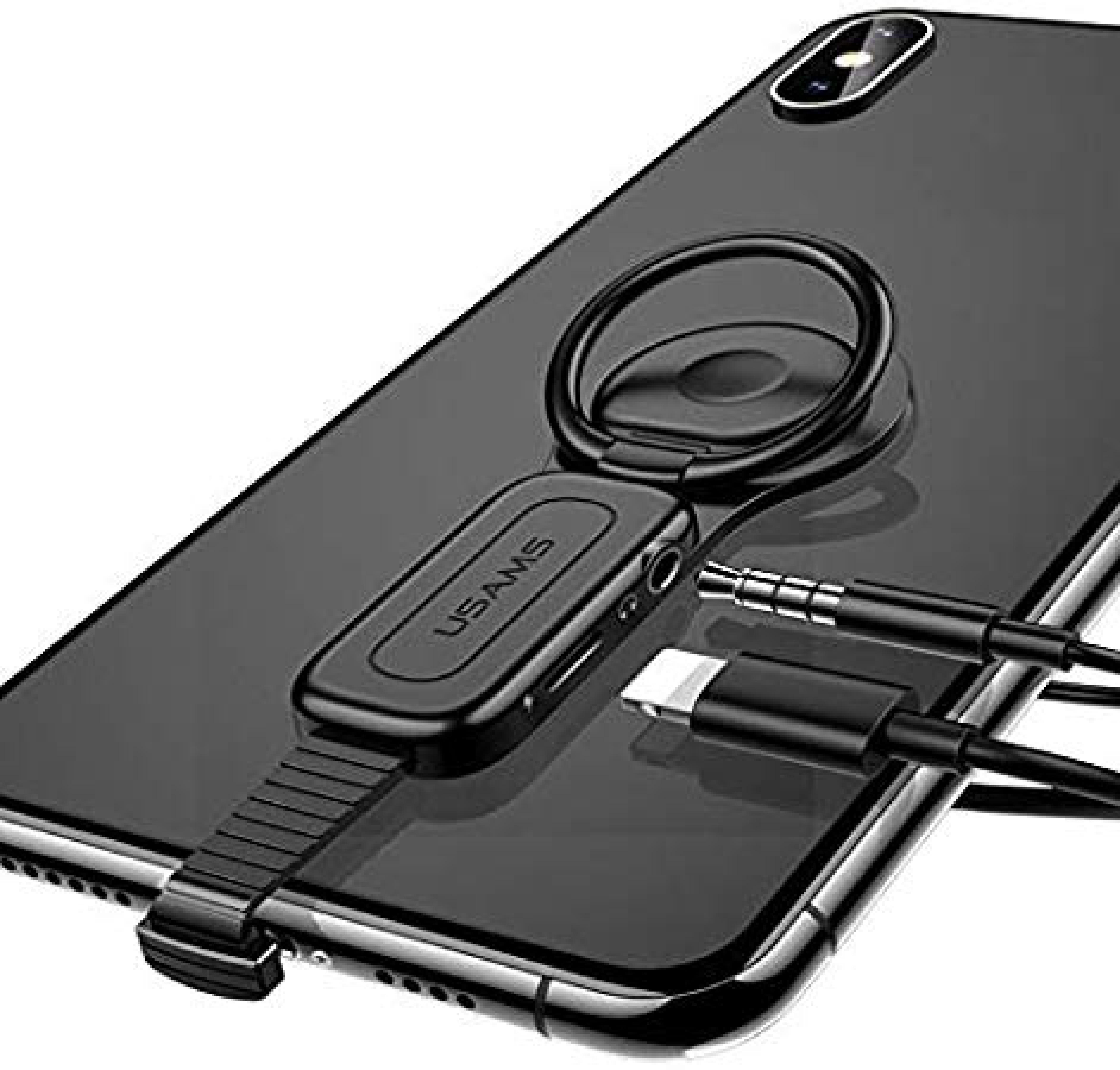 3.5mm Ses Ve Şarj Telefon Tutucu  2A Hızlı Şarj Otg Adaptörü