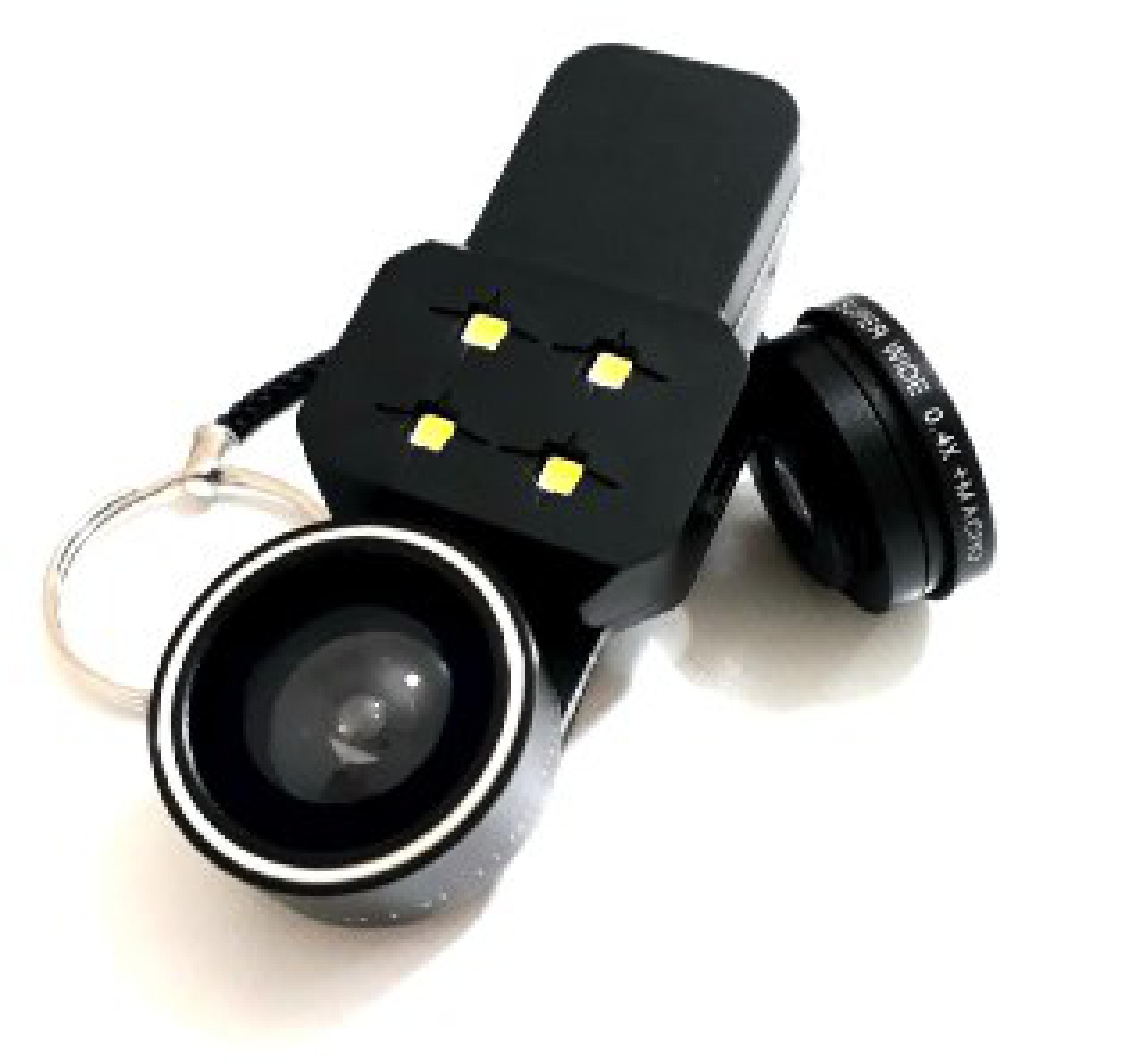 4 in 1 Işıklı Balık Gözü Lens Wide Geniş Açılı Makro Universal