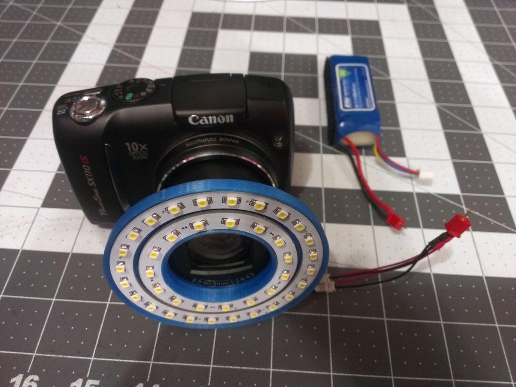 CanonSX110 IS Kamera için LED Işık Halkası  Organik Plastikten