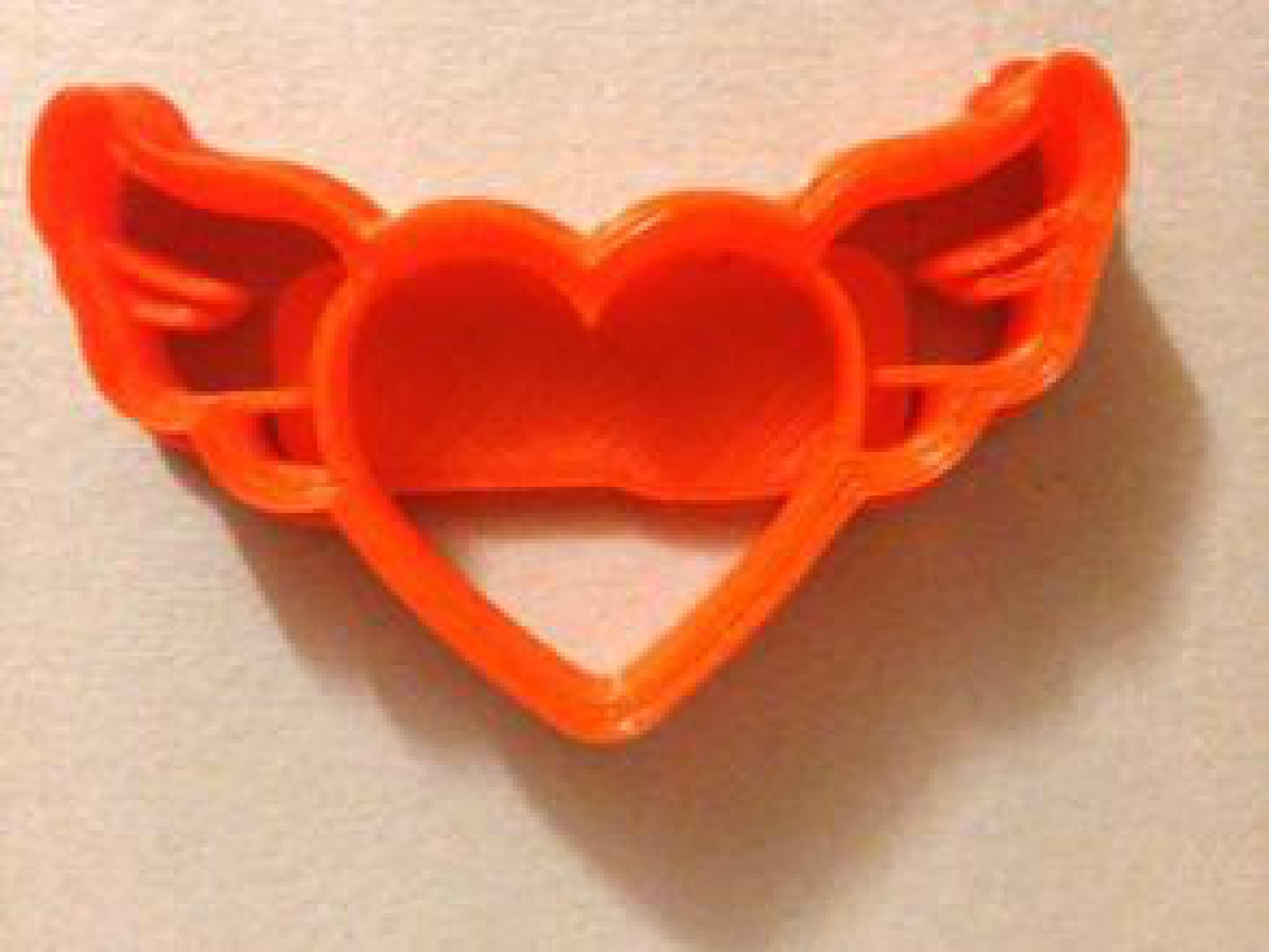 Heart Wings Kurabiye Kesici Sevgililer Günü Hediye Kalıbı