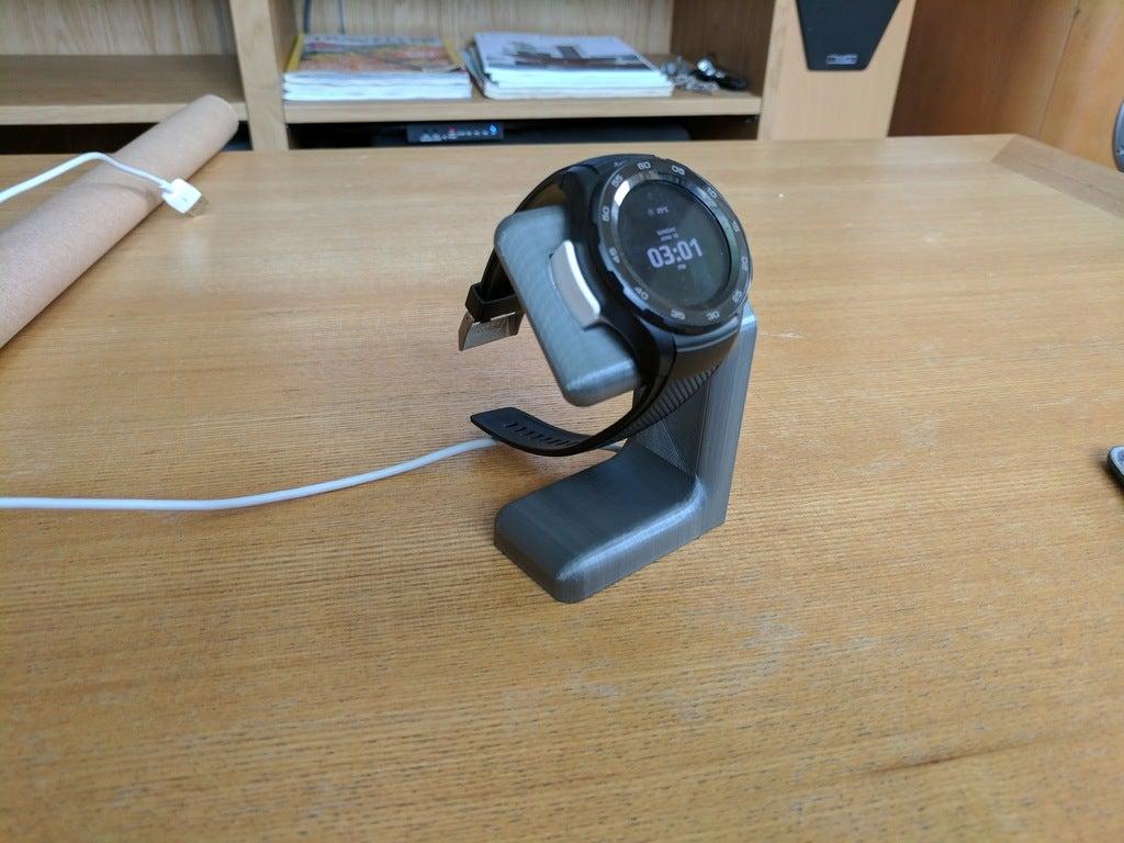 Huawei Watch 2 için şarj standı Aparatı Masaüstü Tutucu