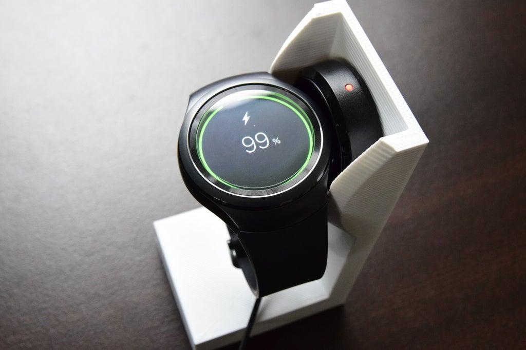 Samsung Gear S2 - Ayaklık aparatı Şarj Standı Kablo Girişli