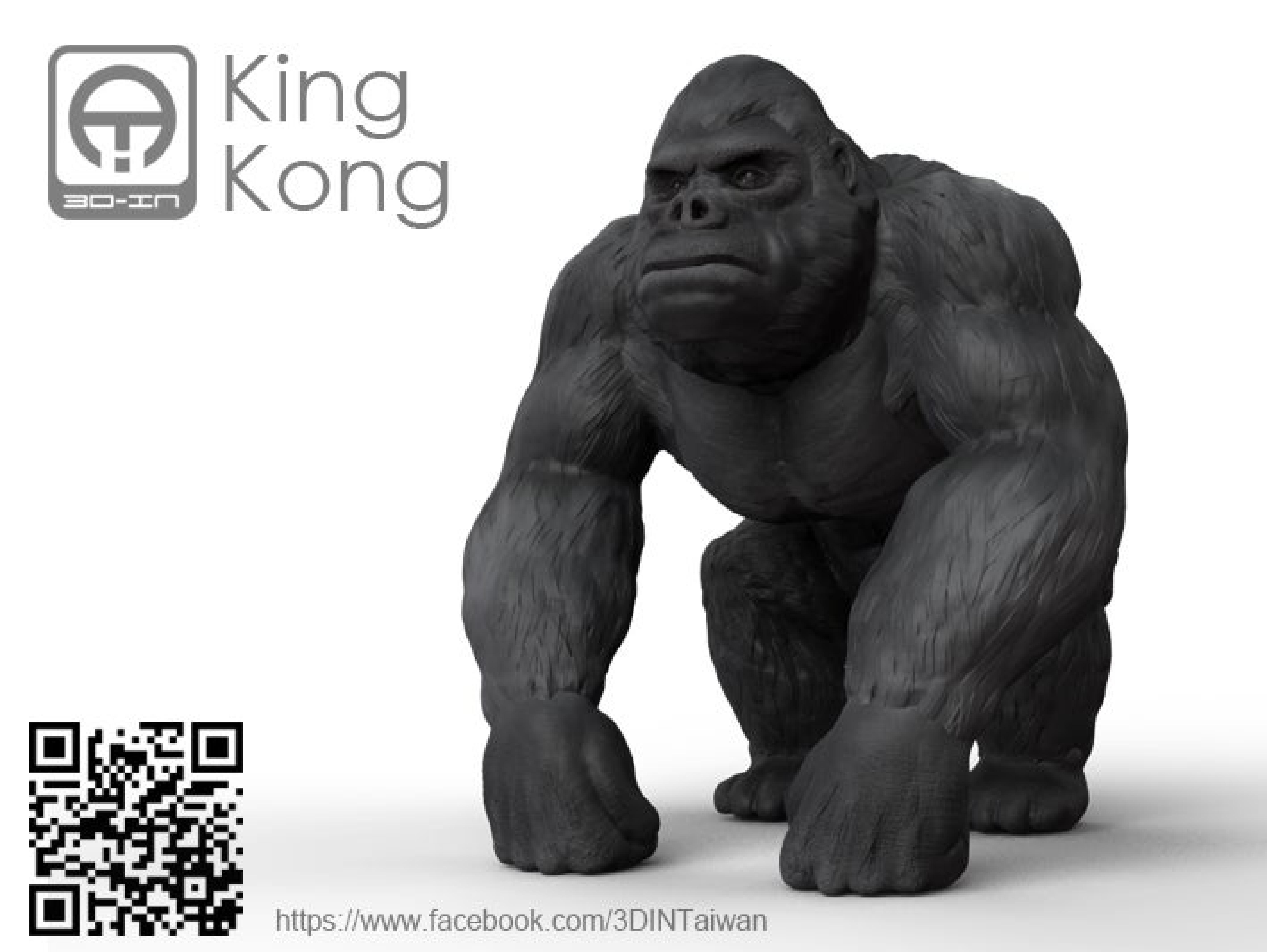 King Kong Masaüstü Dekoratif Biblo Dekor