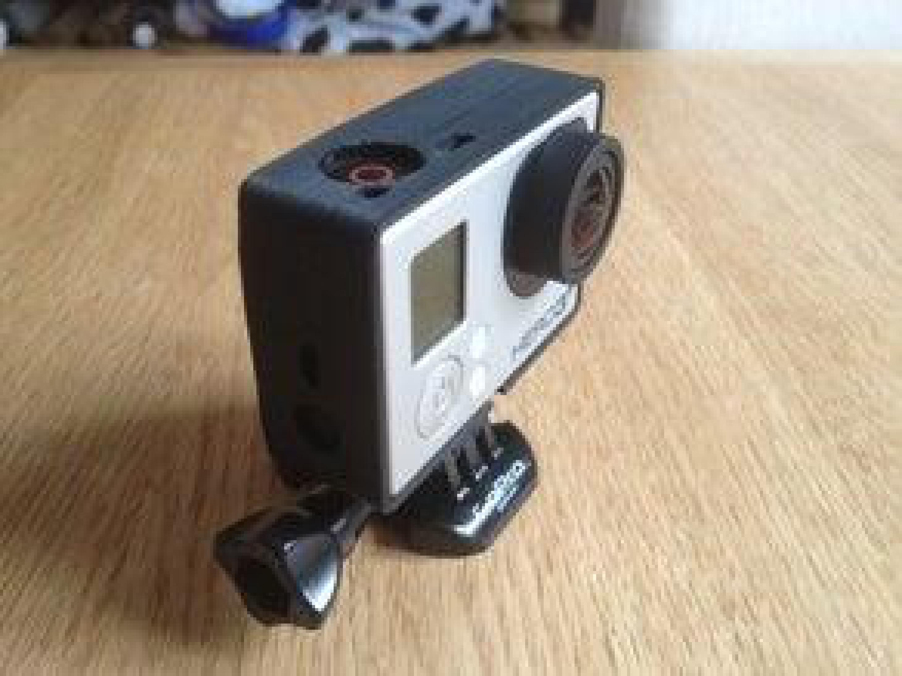 KISS GoPro hero3 + siyah baskı Çerçeve aksesuar tutucu vida hariç