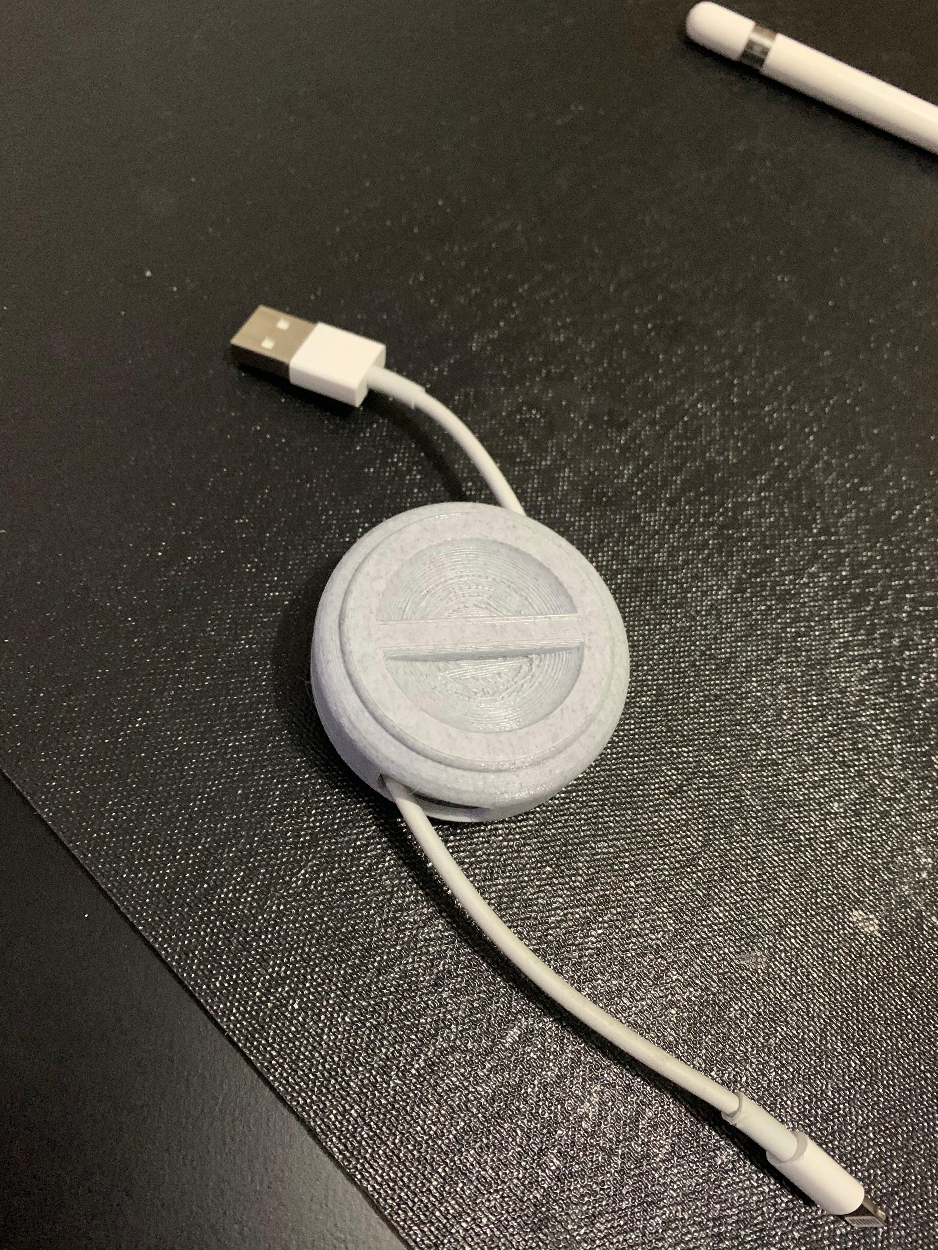 USB Kablo  Telefon Bilgisayar Kablosu Makarası Saklama Kutusu