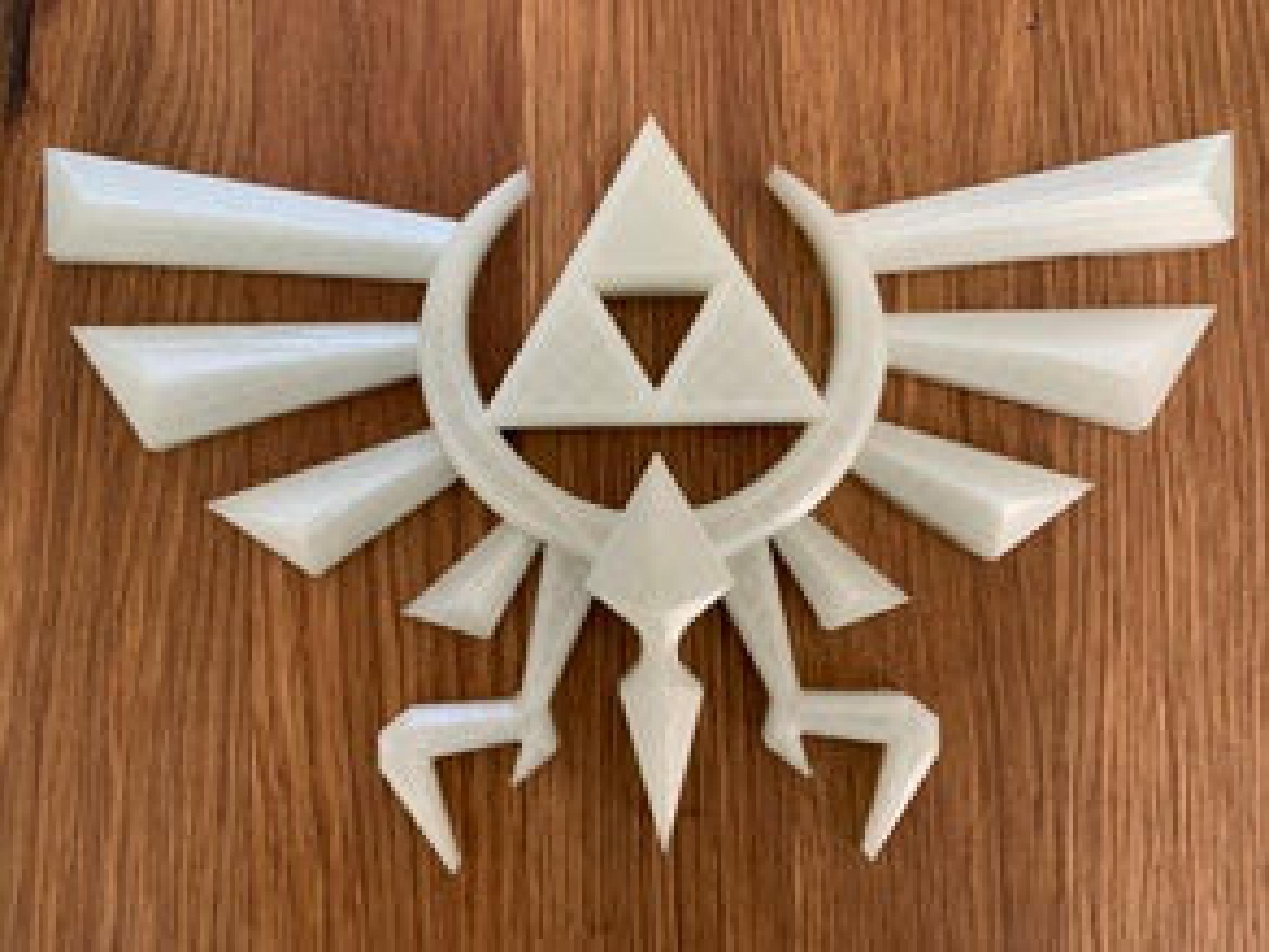 Hyrule Triforce Wingcrest - Legend of Zelda Logo Dekoratif