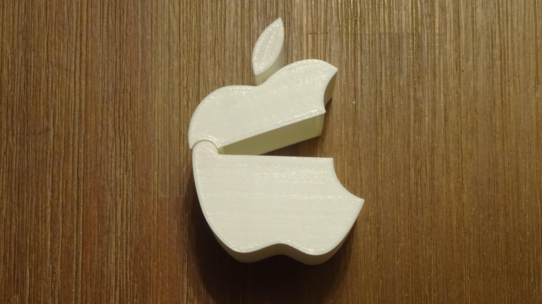Apple Logo Şeklinde Kutu Dekoratif Biblo Dekor