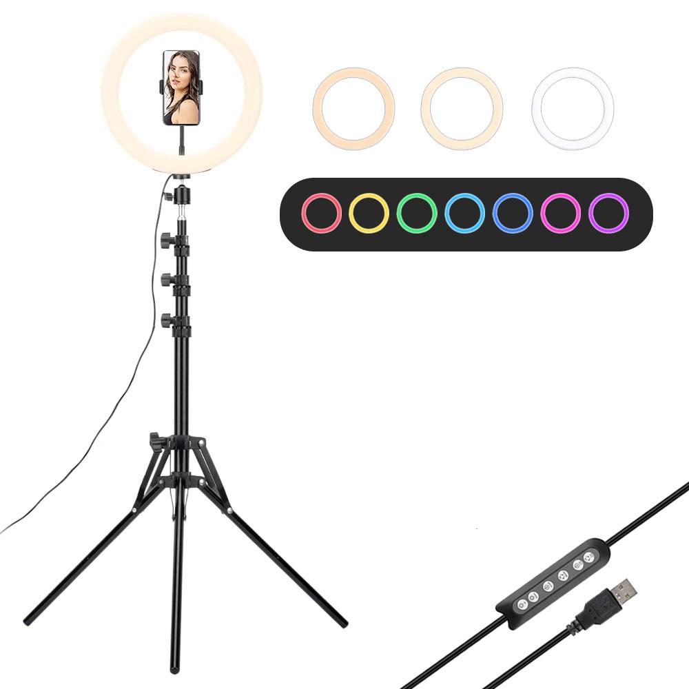 RGB LED 30CM Işık Profesyonel Fotoğraf Video Çekimi 2M Ayaklı