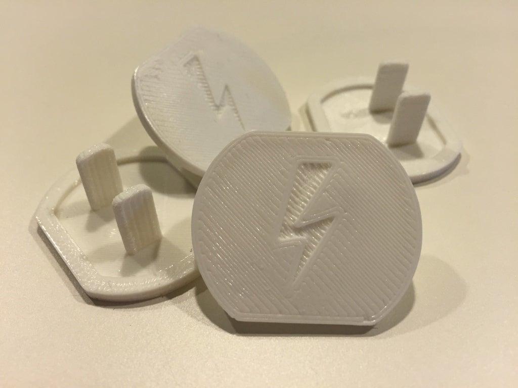 Emniyet çıkışı kapağı Priz kapağı elektrik logolu fiş kapağı