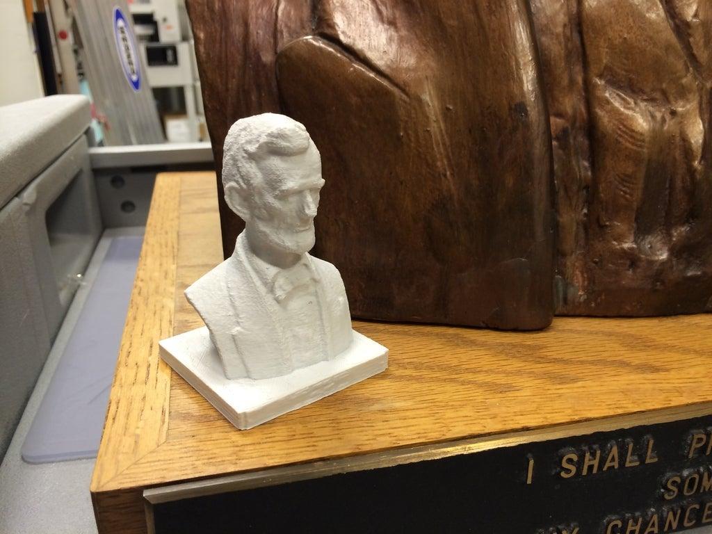 Abraham Lincoln'ün büstü Heykeli Dekoratif Biblo Dekor Hediyelik