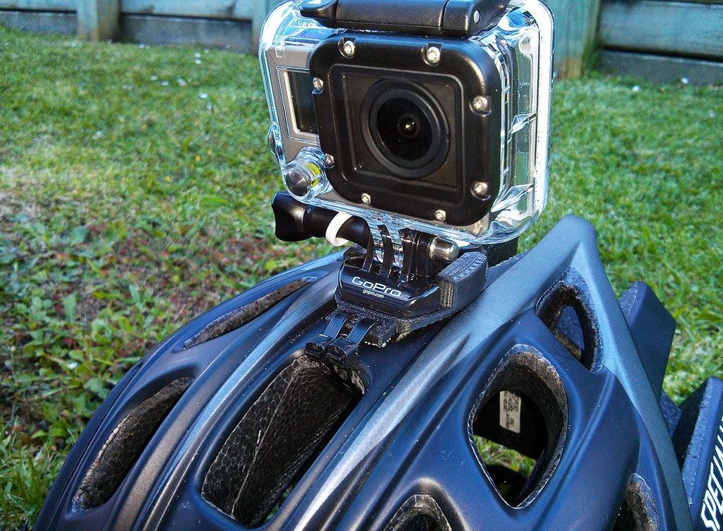 Zip tie GoPro Kavisli Motosiklet Kaskı Aparatı