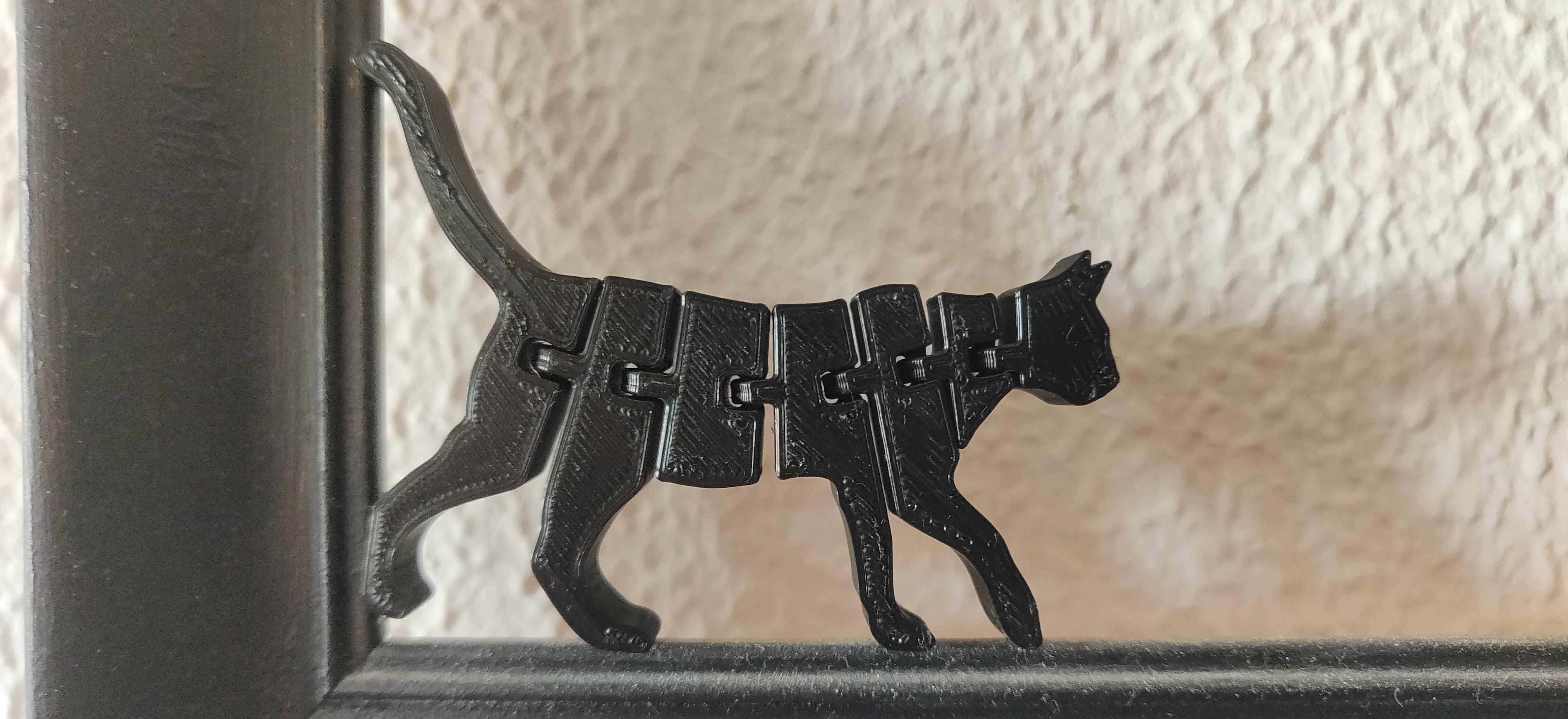 Hareket edebilen Oyuncak Kedi Masaüstü Çalışma Masası Biblo
