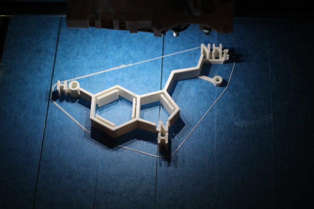 Serotonin Molekülü Dekoratif Biblo Dekor Hediyelik Süs Eşya