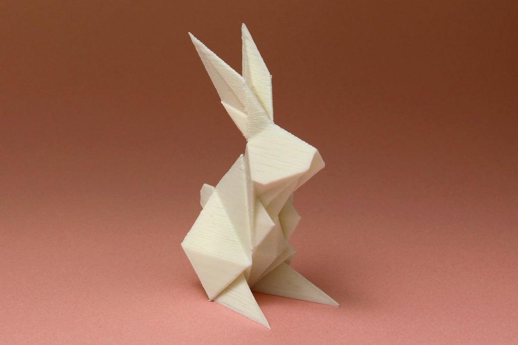 Hediyelik Süs Eşyası Origami Tavşan Dekoratif Biblo Dekor