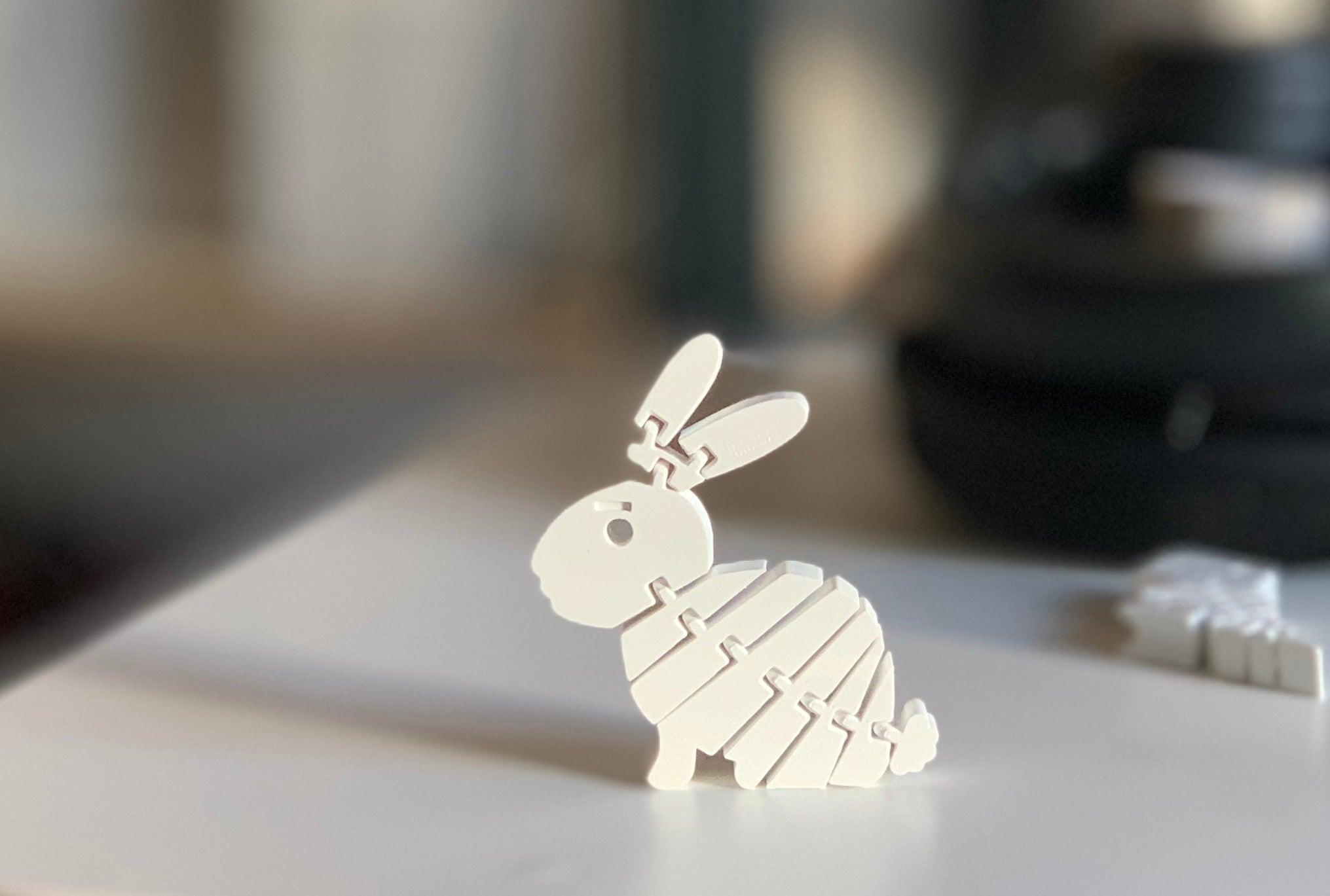 Minik Tavşan Hareketli Dekoratif Biblo Dekor Hediyelik Süs
