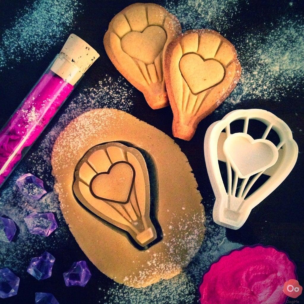 Aşk Balon Kurabiye Kesici Kalıp Kek Kalıbı Organik Plastik