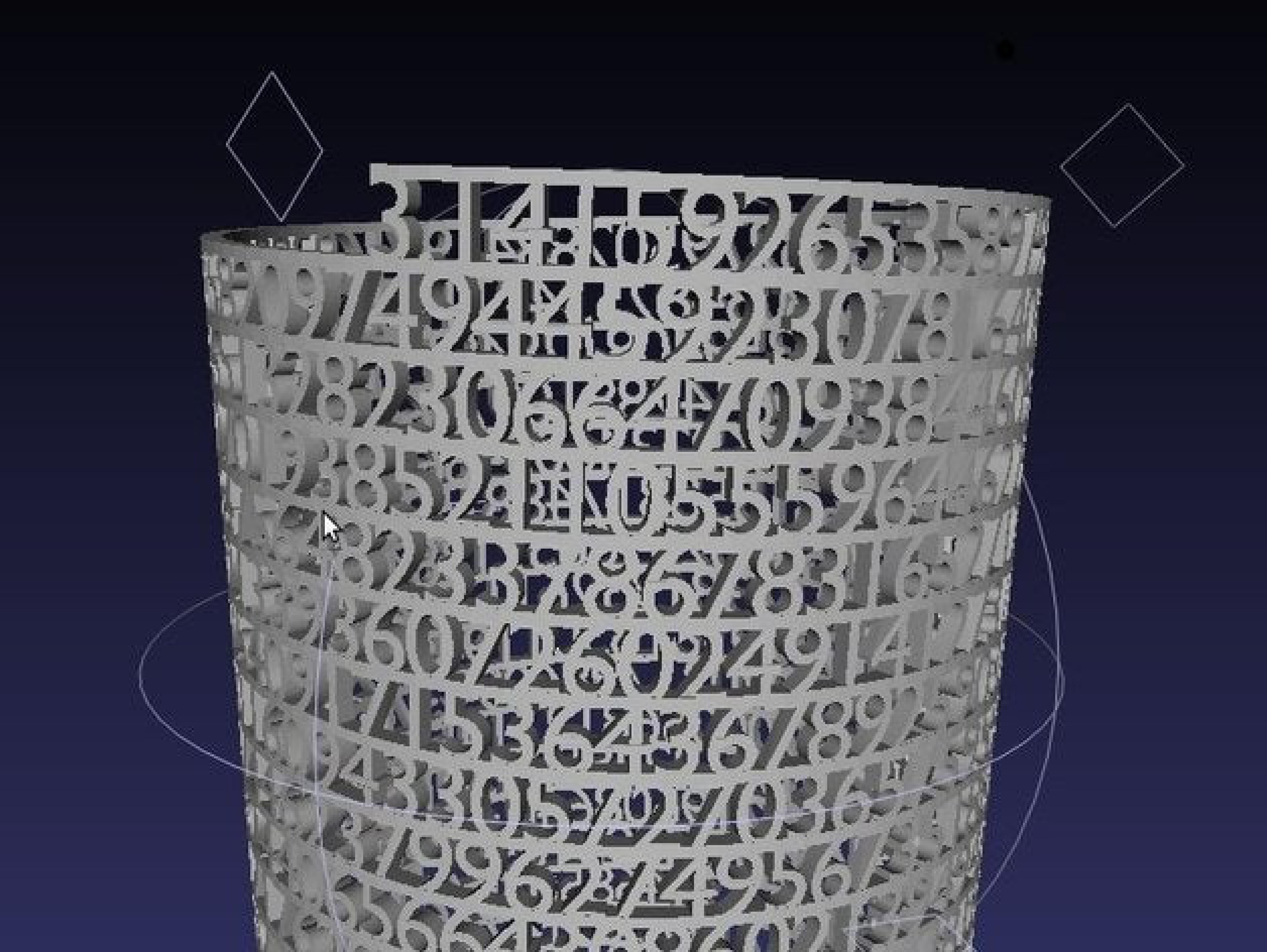 Pi Sayısı Haneleri Kule Kalemliği Matematik Tebeşirlik