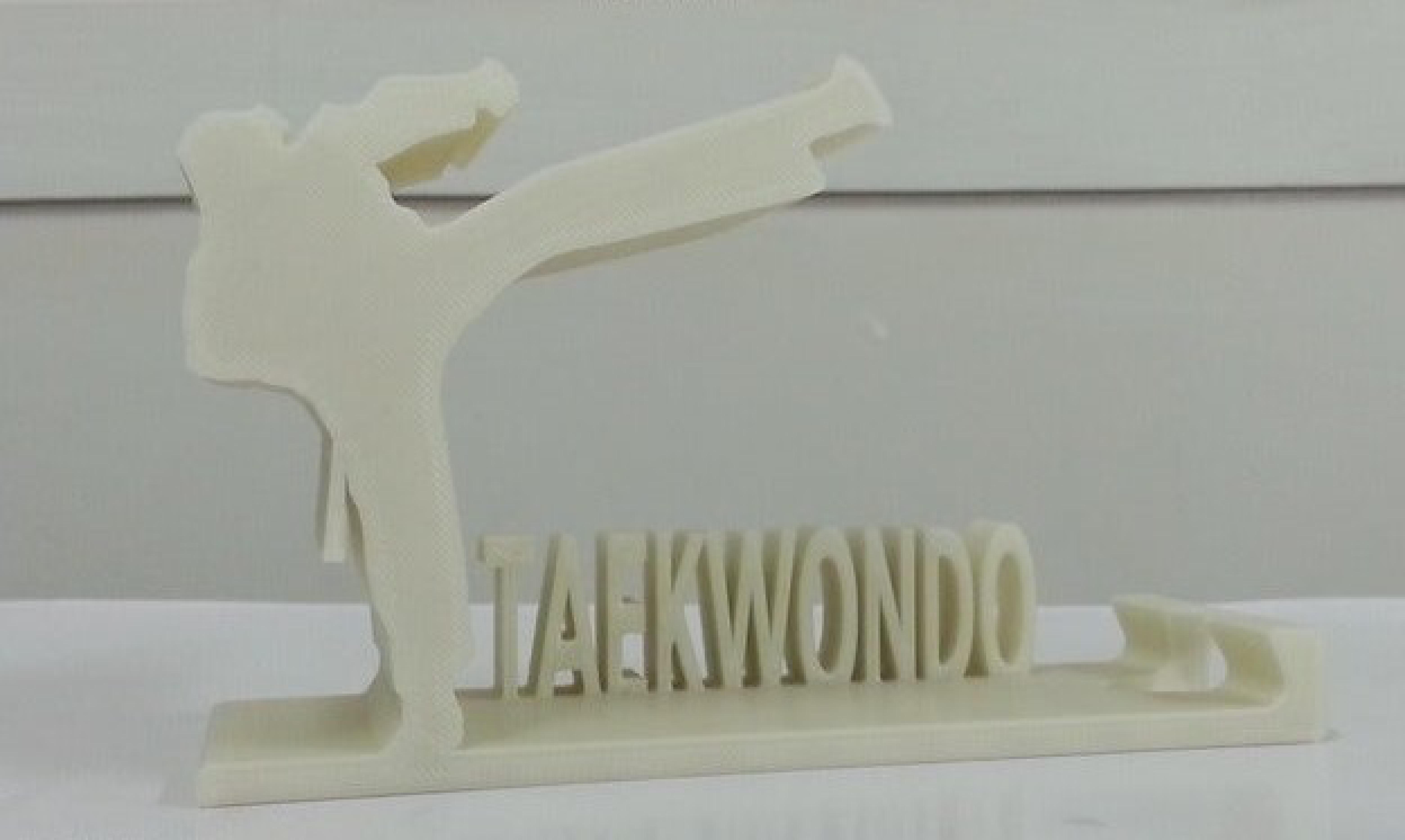 Taekwondo Görselli Masaüstü Telefon Tablet Tutucu Stand