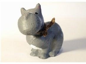 Hipopotam Dekoratif Biblo Dekor Hediyelik Süs Eşyası Masaüstü