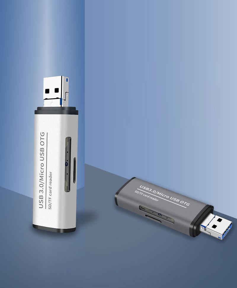ADS-102 USB 3.0 Micro-usb TF SD Kart Okuyucusu ENT