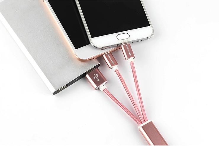 Apple iPhone Lightning, Android MicroUSB Anahtarlık Şarj Kablosu