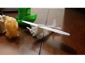 Mini Howard DG-15 Uçak Dekoratif Biblo Dekor Hediyelik Süs