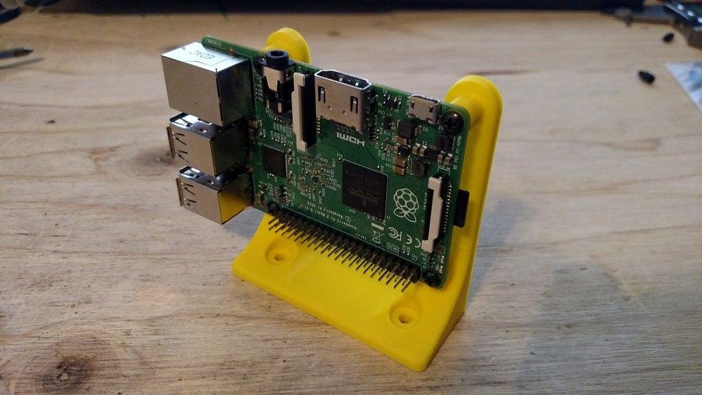 Raspberry Pi Açısı Dik Montaj Tutucu Aparatı14
