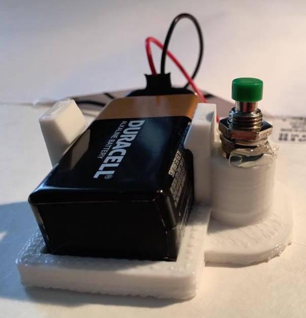 Anlık anahtar tutuculu 9V pil tutucu tek parça  Aparatı