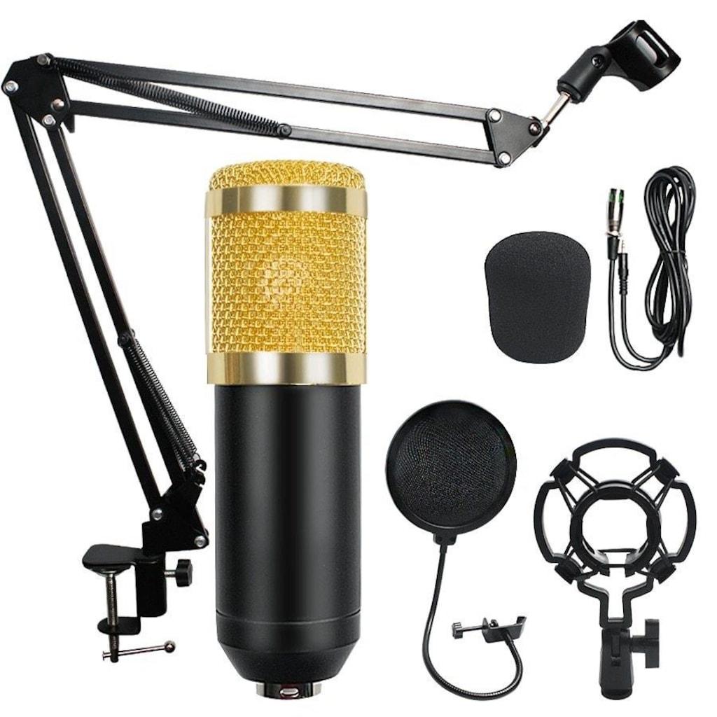 BM800 Stüdyo Kayıt Youtuber Mikrofonu Seti  Stand  Pop Filtre