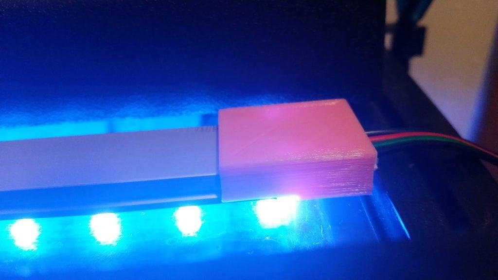 U Şekli Alüminyum LED Kanal - Tel Desteği  Organik Plastikten