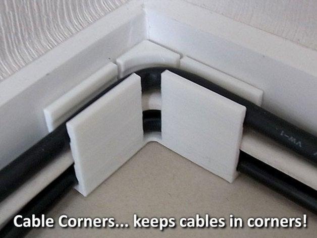 Bilgisayar Telefon Kablo Düzenleyici Köşe Aparatı
