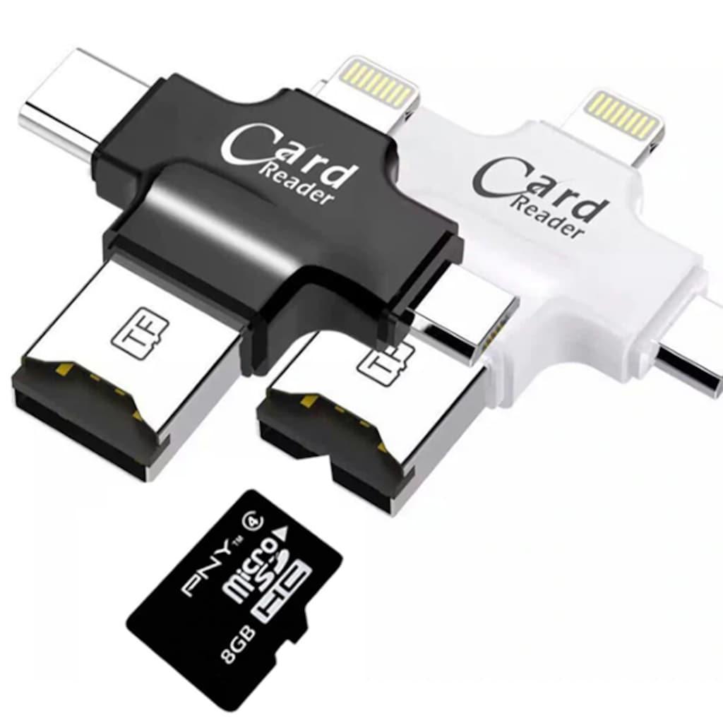 Card Reader Micro SD Usb Apple iphone Lightning Type C Çoklayıcı