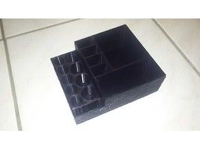 Makyaj manikür organizatörü koyma toplayıcı düzenleyeici kutu