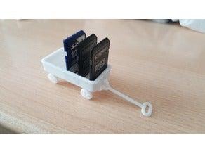 Sd Mini Kart Tutucu Vagon Organizer Masaüstü Organizcer