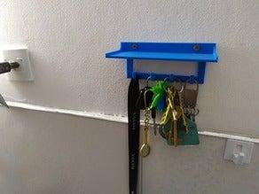 Hediyelik Standlı Raflı Mavi Anahtarlık Askı Plastik Duvar
