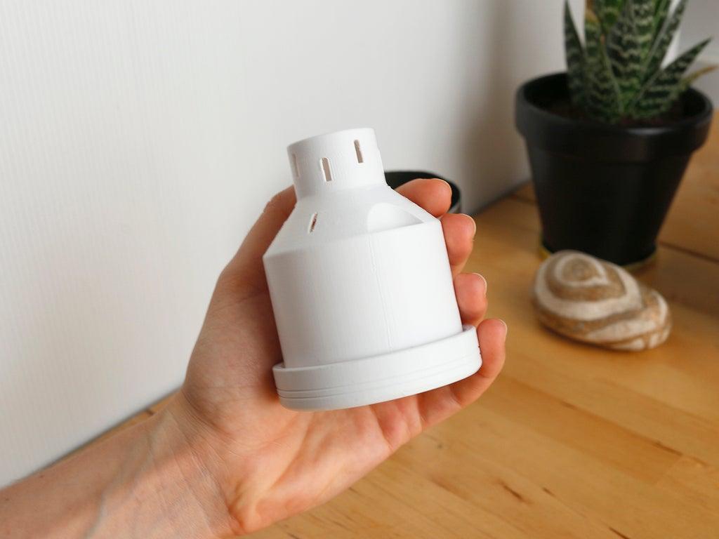 Campbell Planter - Tamamen 3D Baskılı Kendinden Sulamalı Ekici