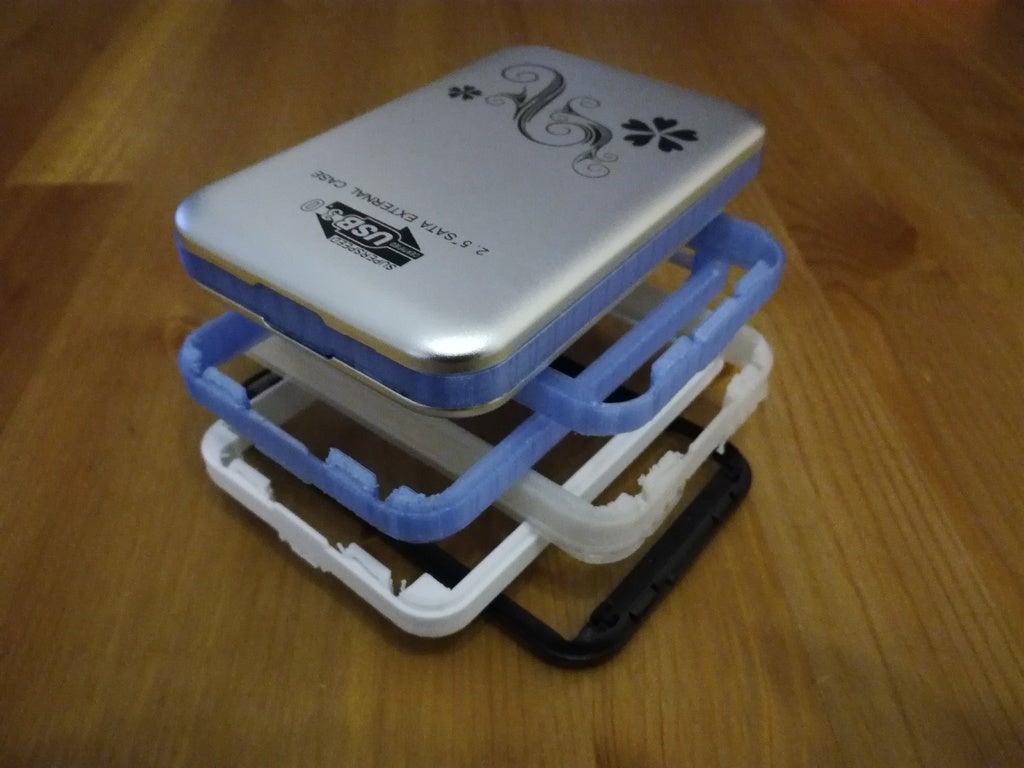 15 mm HDD'ler için USB 3.0 harici Harddisk çantası (3TB ve 4TB için)