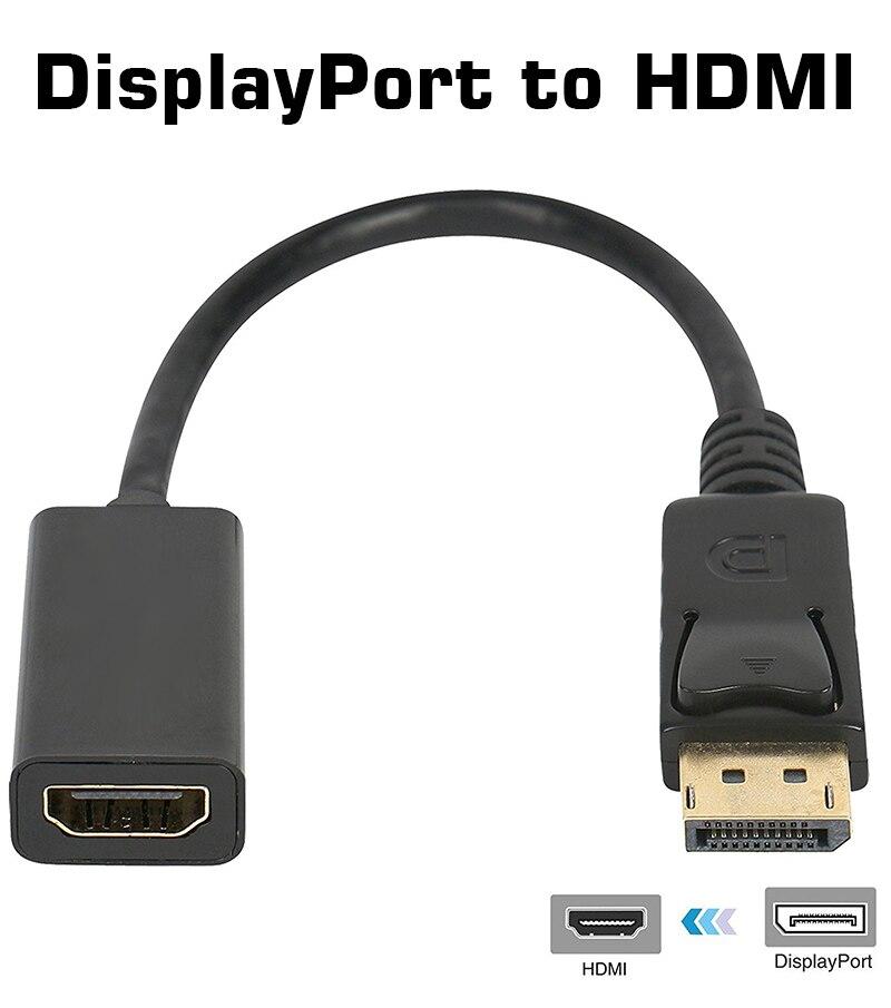DisplayPort to HDMI Dönüştürücü Kablolu Adaptör