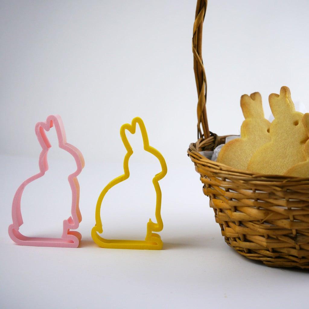 Paskalya Tavşanı Kurabiye Kesici Kalıbı Kalıp Organik Plastik