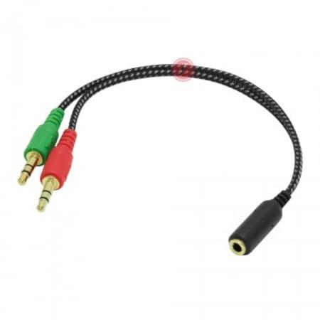 Frisby Kulaklık Ses Mikrofon Ayırıcı Dönüştürücü Çoklayıcı Kablo