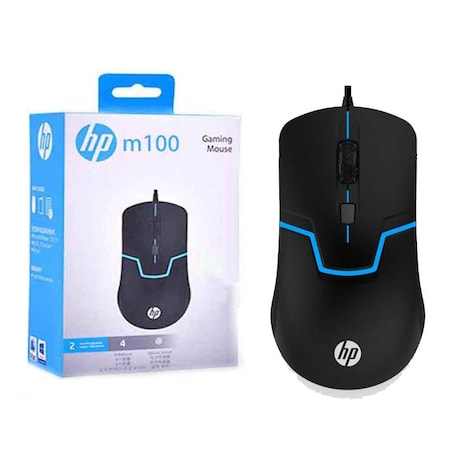 Hp M100 Işıklı Mouse Kablolu Gaming Oyuncu Gamer Dpi USB Giriş
