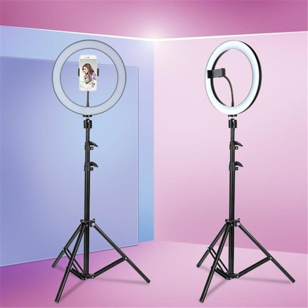 Makyaj Çekim Ring Light Selfie Işık 10-12 inch Işık 2m Stand