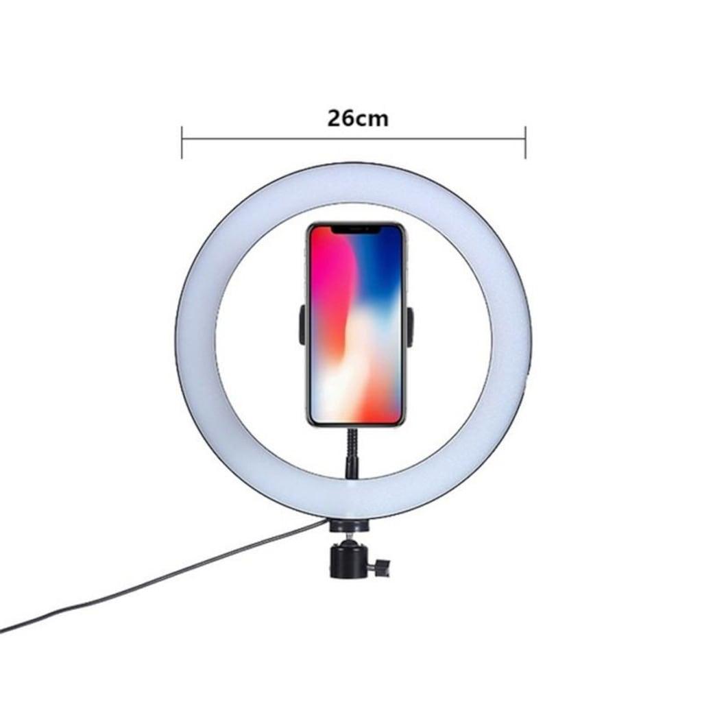 Makyaj Çekim Ring Light Selfie Işık 10 inch Işık 2m Stand Kuaför