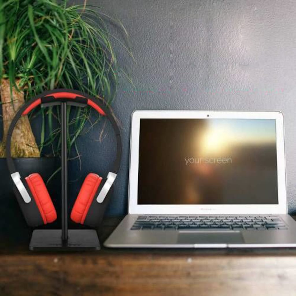 Kulaklık Tutucu Standı Metal Siyah Headset Stand