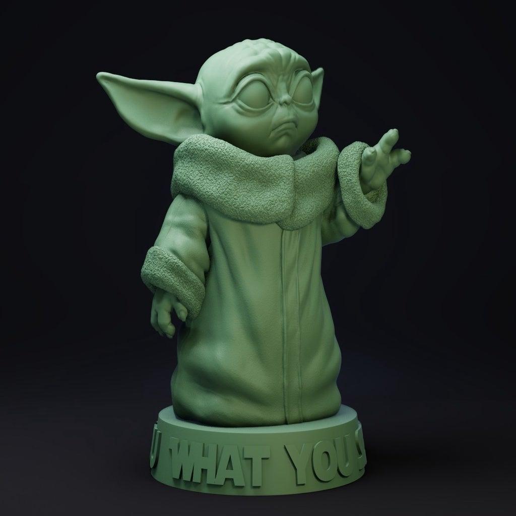 Bebek Yoda Dekoratif Biblo Dekor Masaüstü Çalışma Masası
