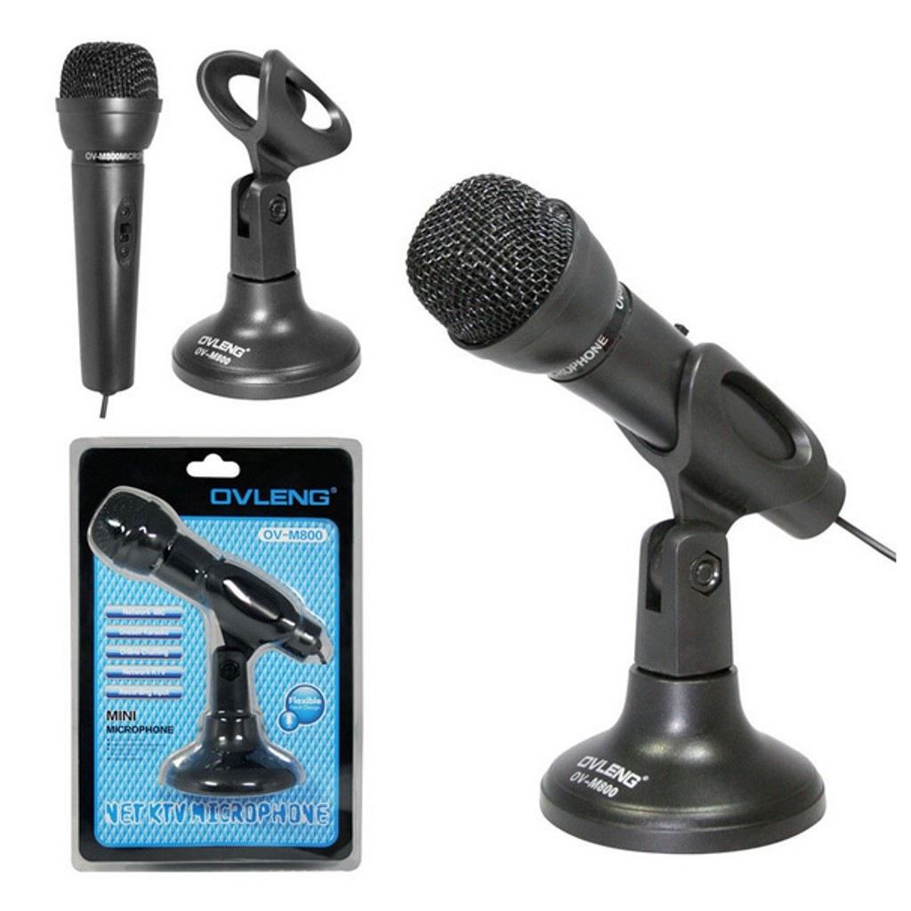 Ovleng M800 Masaüstü Stand Mikrofon Profesyonel Youtuber Telefon