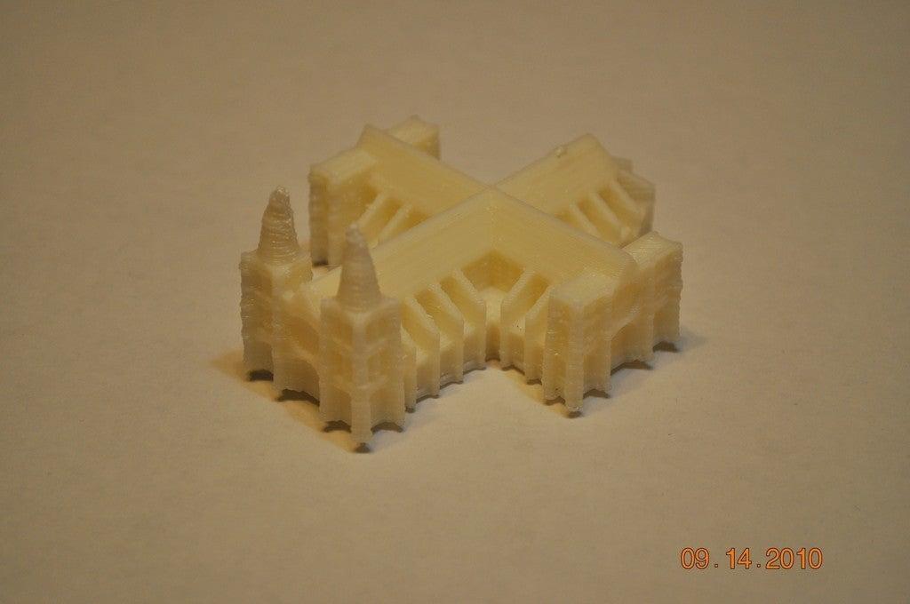 Mini Katedral Dekoratif Biblo Dekor Hediyelik Süs Eşyası Masaüstü